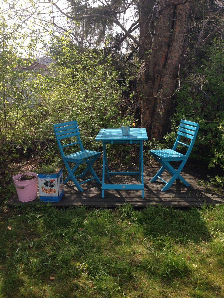 Our garden in late April #Trondheim #interior #interiør #hage #garden #lavendel #elleinterior #bobedre