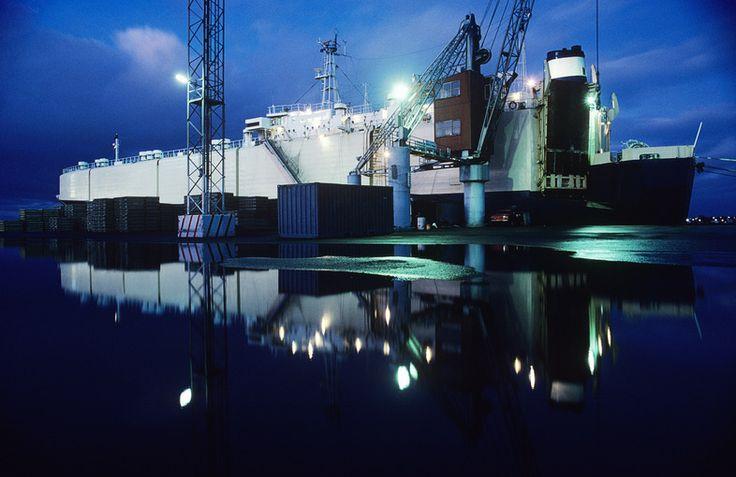 Car carrying ship in dock at Melbourne, Australia Visit us on http://chandlerdental.com.au/