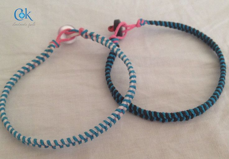 Two colors fishbone bracelets (119)