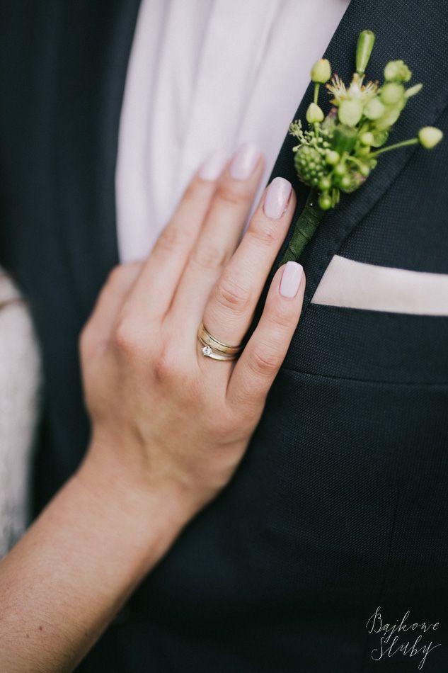 INNA Studio_ buttonhole / bunkierka zielona / naturalna / fot. Bajkowe Śluby