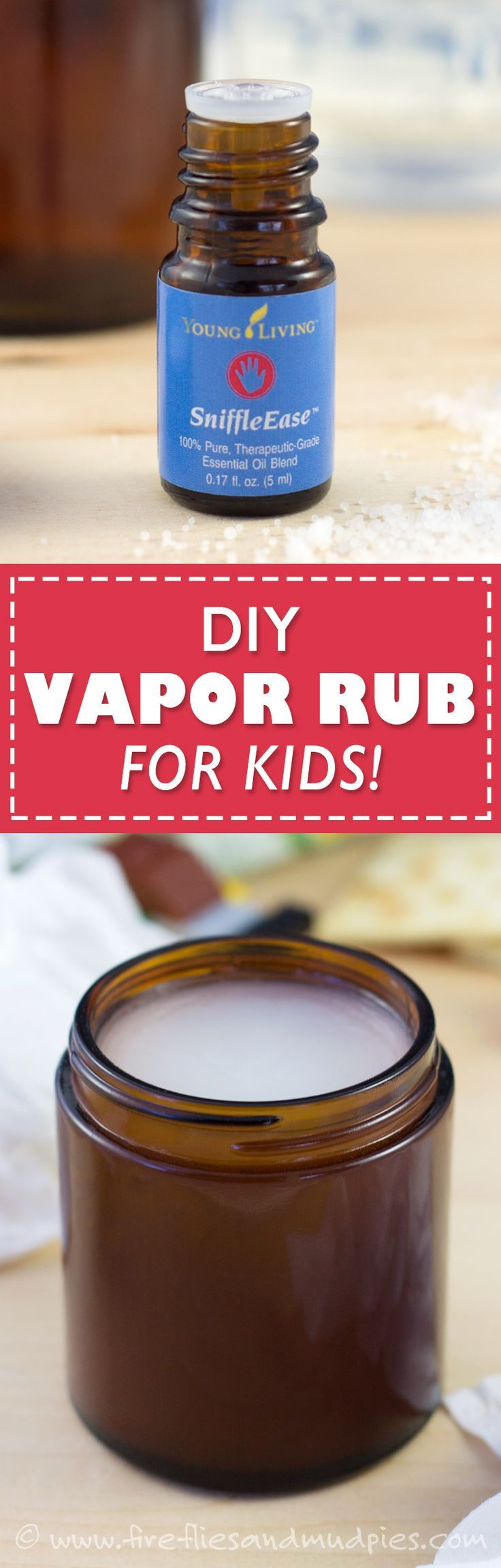 DIY Vapor Rub for Kids! Petroleum-free and easy to make! | Fireflies and Mud Pies