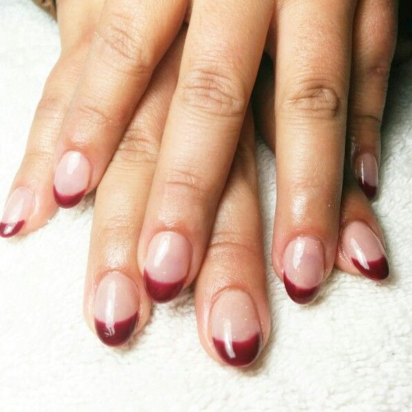 Red french, gelish nails