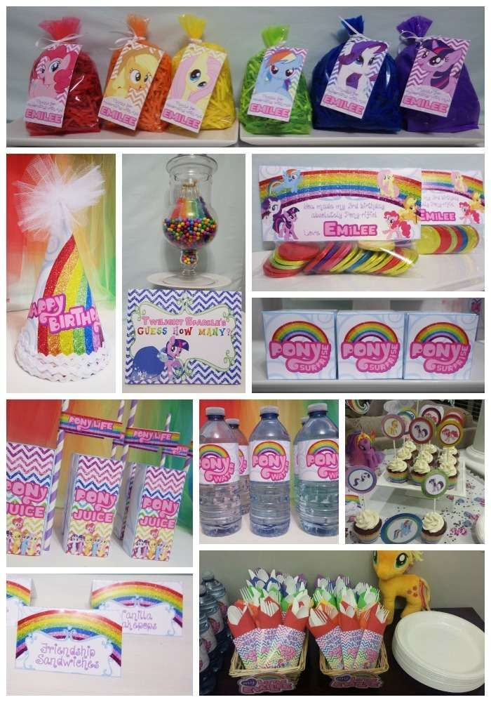 My Little Pony rainbow birthday party! See more party planning ideas at CatchMyParty.com!