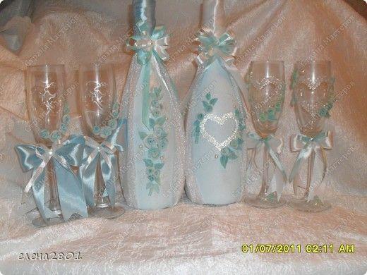 Декор предметов Свадьба Лепка Свадебный набор №1 Ленты Пластика фото 1