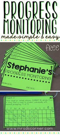Progress Monitoring for IEPs and RTI made easy! FREE, editable, and easy to use Progress Rings to help save you time and paper. Blog post and instructions at Mrs. D's Corner.