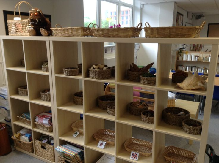 Classroom Ideas Eyfs ~ New classroom natural resources shelf doubling up as a