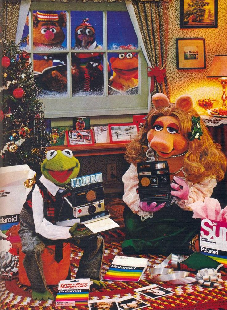 1981: The Muppets for Polaroid Christmas Ad *advertisements used to have so much thought and creativeness-this ad is adorable*
