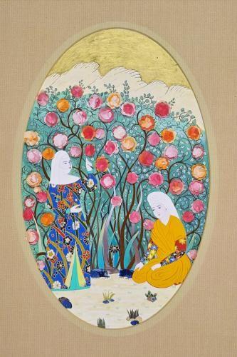 Günümüz sanatçılarından Dürdane Ünver'e ait bir minyatür eser. #artwork #fineart #dürdaneünver #minyatür #art #miniature #artist #ottomanart