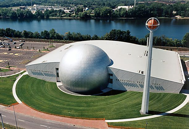 Naismith Basketball Hall of Fame in Springfield Massachusetts
