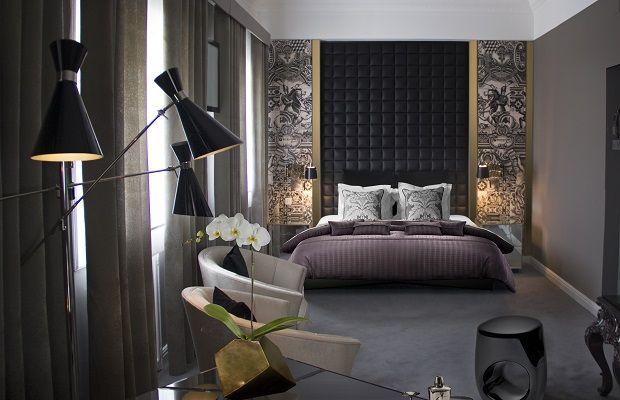 Il Design Glamour | Design d'interiori da Hollywood| Boca do Lobo Design arreda hotel di lusso| Idee Camere da letto | #Arredamento design #camera da letto #bocadolobo Leggi di piu http://www.spazidilusso.it/