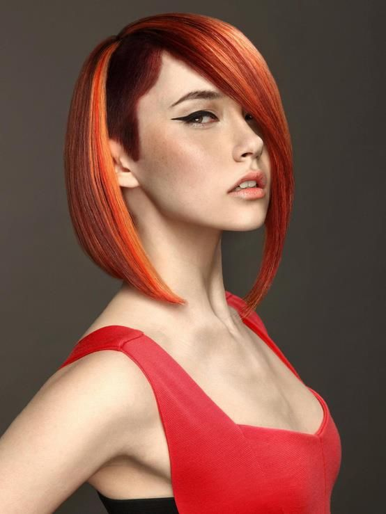 Perfect combination: sidecut + red hair
