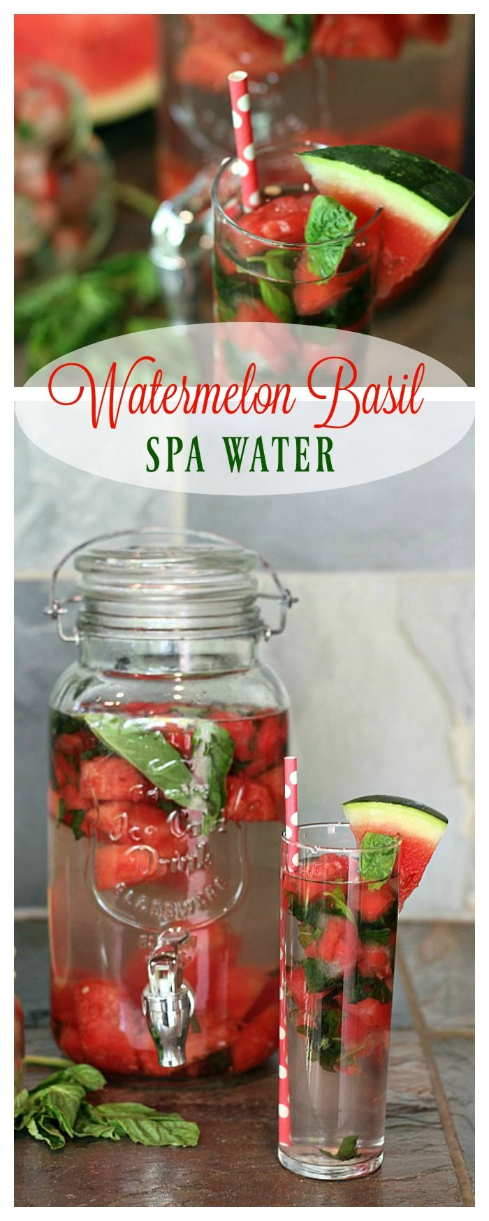 Meet all your hydration goals with this easy-to-make Watermelon Basil Spa Water! #PureLife35pk #ad