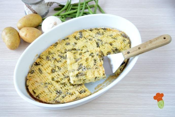 Polpettone Alla Ligure Di Fagiolini E Patate Greenme Ricetta Fagiolini E Patate Idee Alimentari Ricette