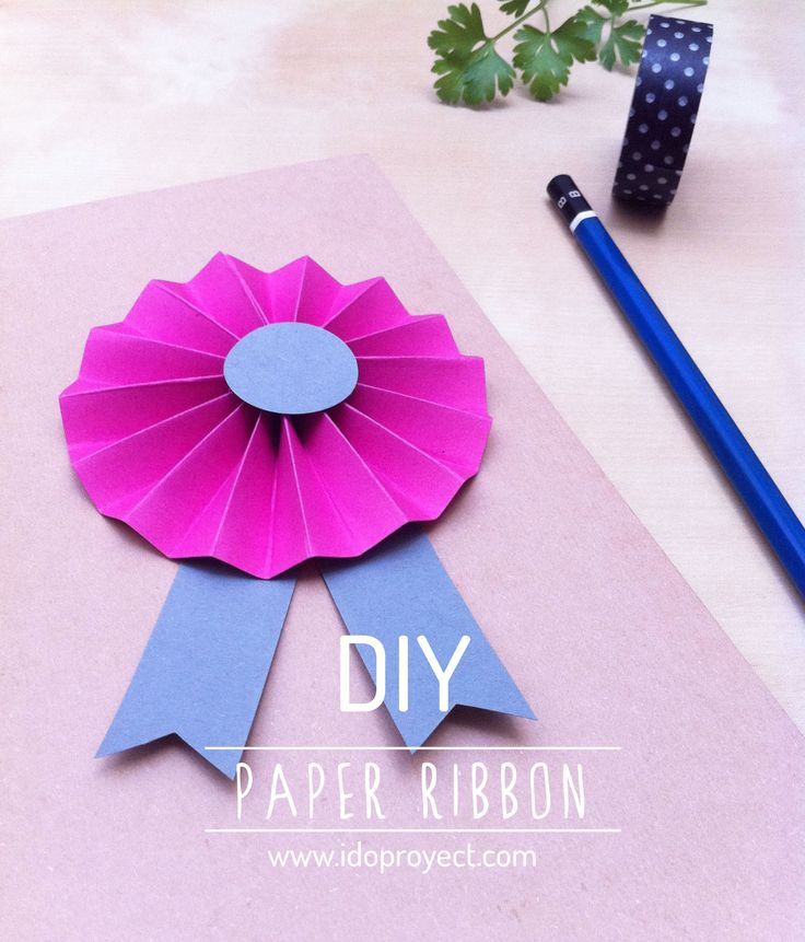DIY paper ribbon / galón de papel