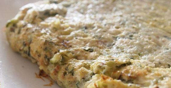 frittata_zucchine con farina di ceci senza uova