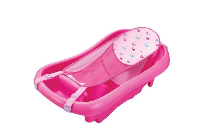 Comfort Toddler Tub Deluxe Newborn Sling Bathtub Ergonomic Design Pink New #TheFirstYears