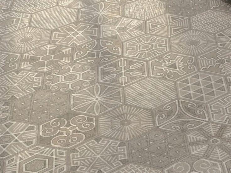 Hexagon zeshoekige tegels met patroon