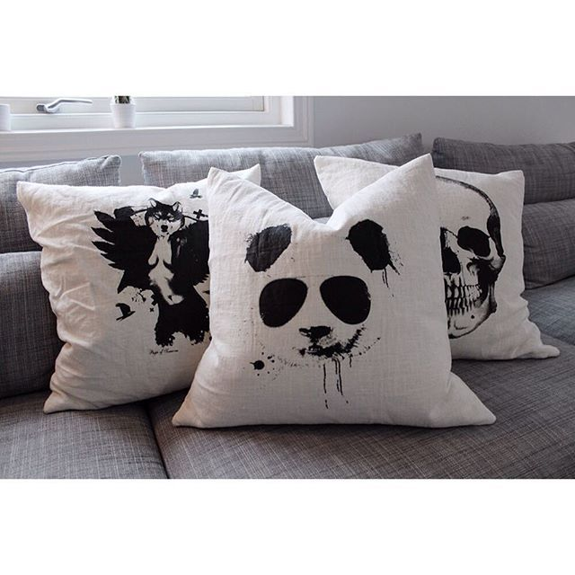 Cool pillows?  check out our webshop for this and more! www.peopleoftomorrow.no #pillow #interior #design #scandinavian #home #norway