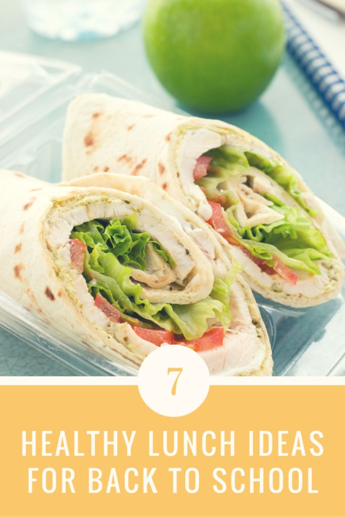 Seven Healthy Lunch Ideas For Back To School