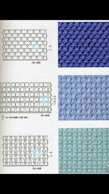 Mejores 100 imágenes de Crochet patterns. Horgolt mintak en ...