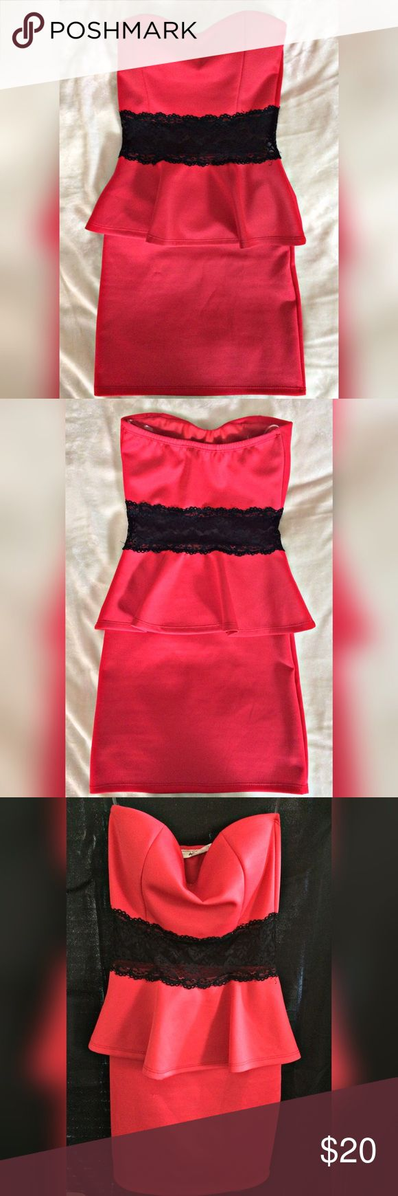 Red w/Lace Bodycon Dress 💫B2G1 FREE or BOGO Beauty Gift Free (see closet for details💫  Wild Daisy bodycon dress with lace waist! Super cute and flattering. Worn to a birthday party and a Christmas party. Showing light wear, as shown in picture. Size S and true to size. ▫️Reasonable offers welcomed▫️ Wild Daisy Dresses Mini