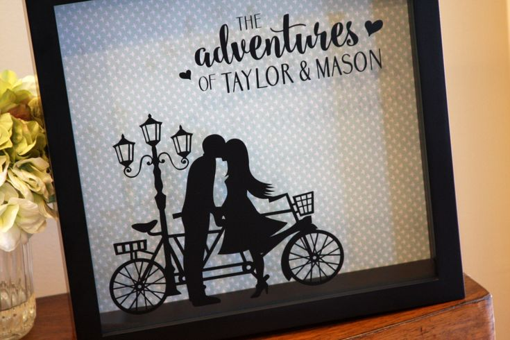 Ticket Shadow Box, Wedding Card Holder, Adventures, Wine Cork Holder, Couple on Tandem, Bicycle, Bike by ThomasStudiosEst2007 on Etsy https://www.etsy.com/listing/481778483/ticket-shadow-box-wedding-card-holder