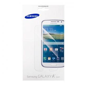 Folia ochronna do smartfona Samsung Galaxy K Zoom. Folia skutecznie ochroni wyświetlacz urządzenia przed zadrapaniami i zarysowaniami, jednocześnie nie pogarszając widoczności ekranu. Folia jest bardzo łatwa do założenia, w zestawie znajdują się wszystkie potrzebne akcesoria.