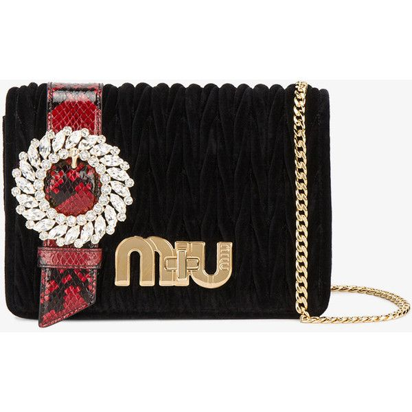 Miu Miu Black Velvet Matelasse Diamante Clutch Bag ($1,855) ❤ liked on Polyvore featuring bags, handbags, clutches, cocktail purse, clasp handbag, circle purse, evening clutches and velvet handbags