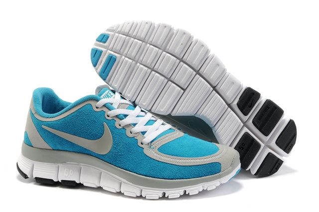 Nike Free 5.0 Suede Womens Grey jade