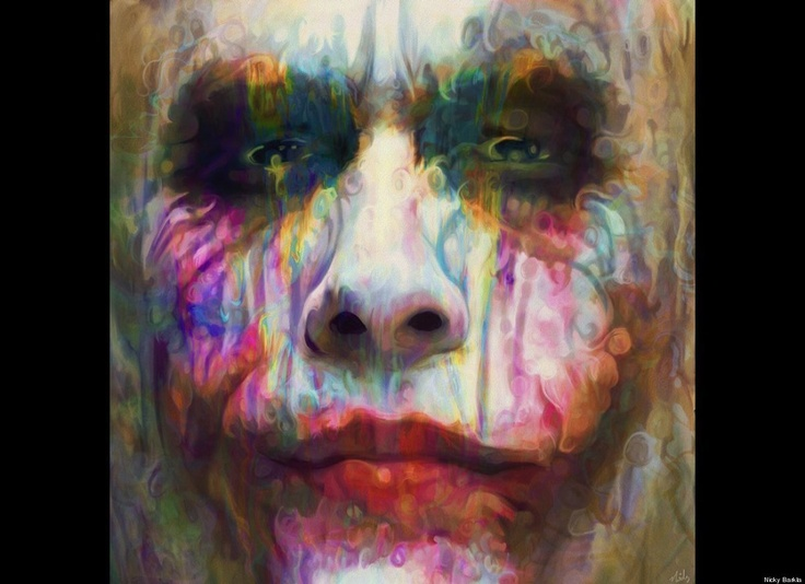 Artist Nicky Barkla Creates Incredible Rainbow-Hued Pop Portraits - Heath Ledger