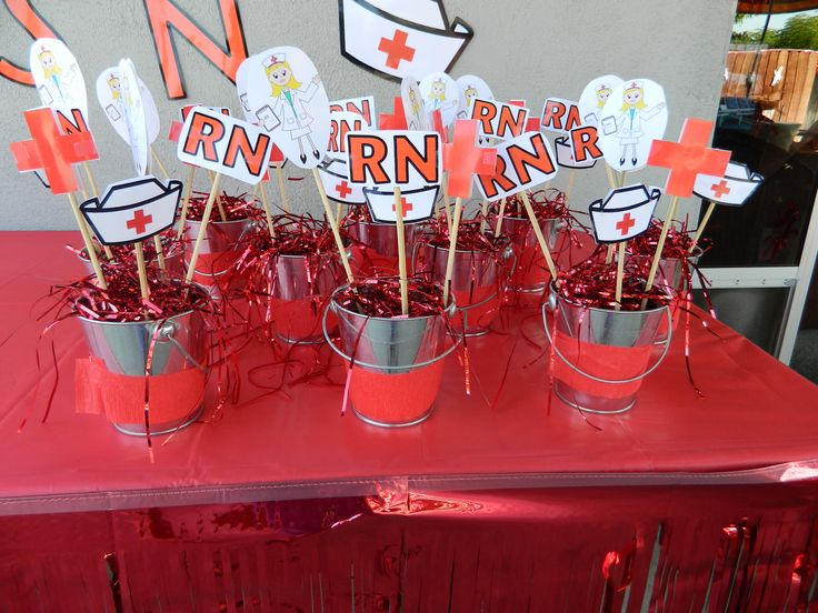Rn party center pieces nursing pinterest grad