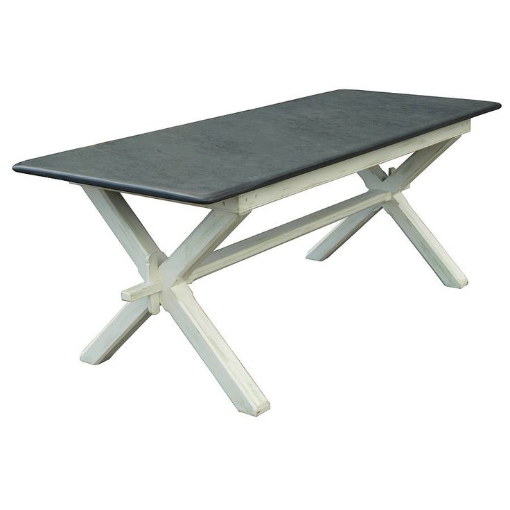 painted refectory style slate top table by slate top tables | notonthehighstreet.com