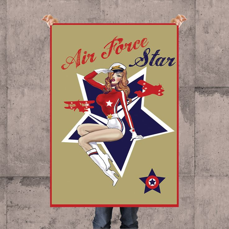 AIR FORCE STAR POSTER BY KSANEEMPIRE FOR MOLEECO CLOTHING Special collection of posters designed by KsanaEmpire specifically for moleeco clothing. Most of the themes of the posters are also available on clothings.  Our posters are printed on high quality paper.