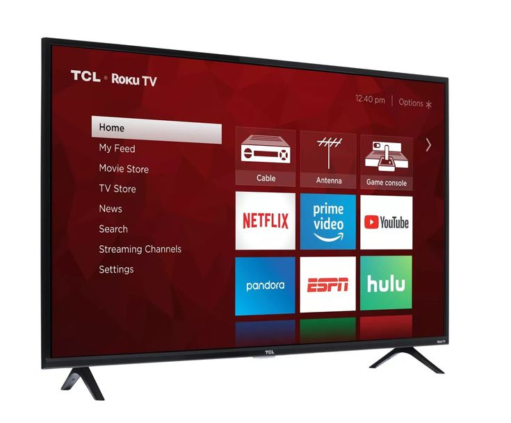 Highlights built in roku operating system with thousands