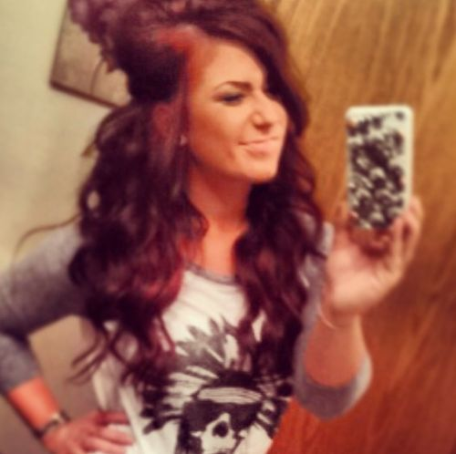 chelsea teen mom 2 hair red | Chelsea Houska's Loose Waves Are Surprisingly Easy to Do (PHOTO)