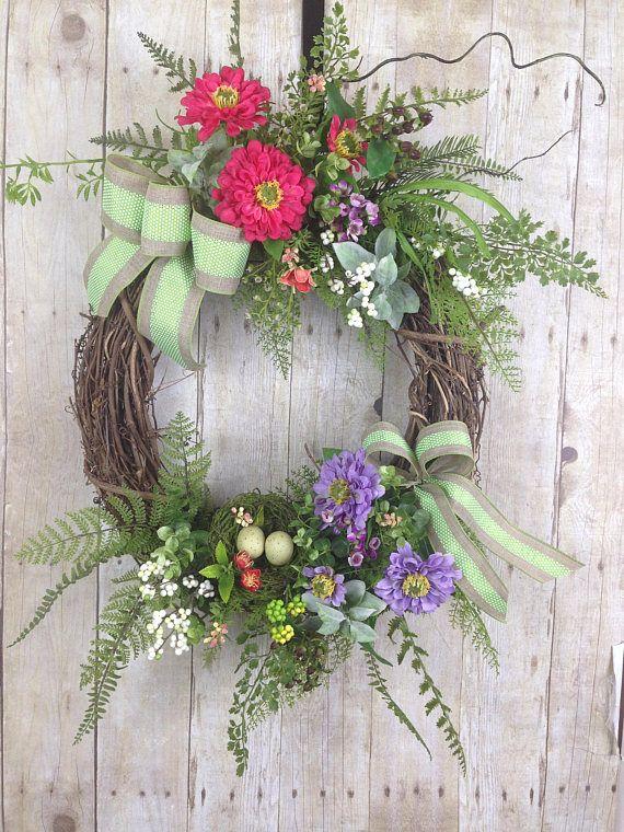 Spring Wreath Summer Front Door, Outdoor Spring Wreaths For Front Door