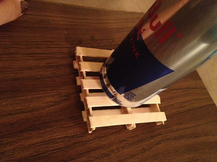 Popsicle Stick Mini Pallet Coaster NAILED IT