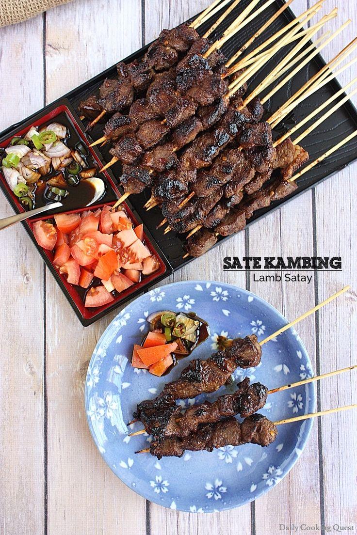 Sate Kambing Lamb Satay Recipe Lamb dishes, Food