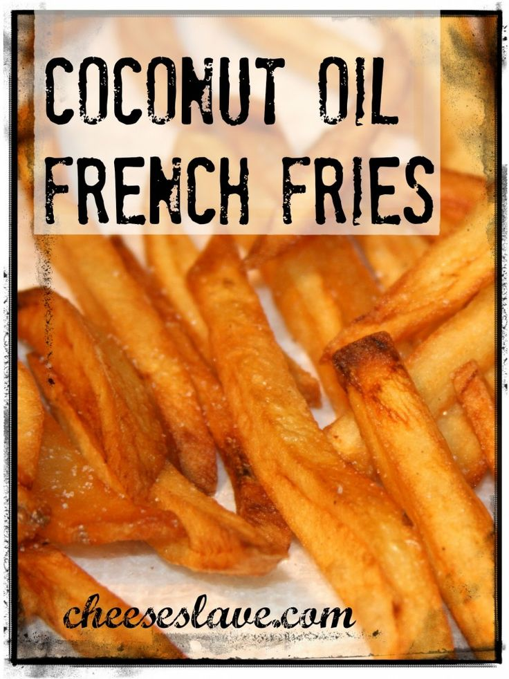 Did you know French fries cooked in coconut oil are actually healthy? Coconut oil is a traditional fat that is really healthy / http://www.cheeseslave.com/coconut-oil-french-fries/