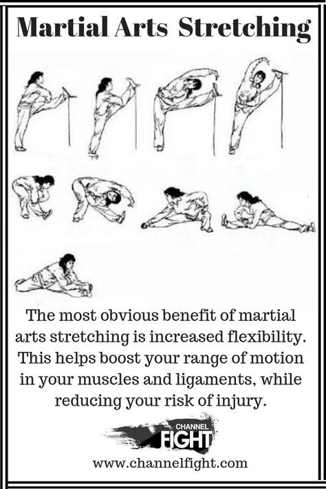 The benefit of Martial Arts stretching increases