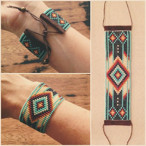 Stunning native inspired bracelet https://www.etsy.com/listing/180130215/native-bracelet