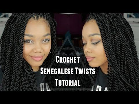 TUTORIAL   CROCHET SENEGALESE TWISTS ∆ OUTRE + X-PRESSION - YouTube