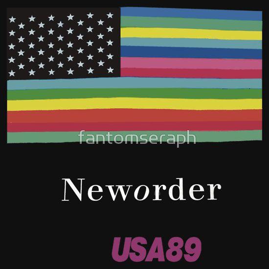 Joy Division New ORDER Technique 1989 Flag tour Promo Shirt
