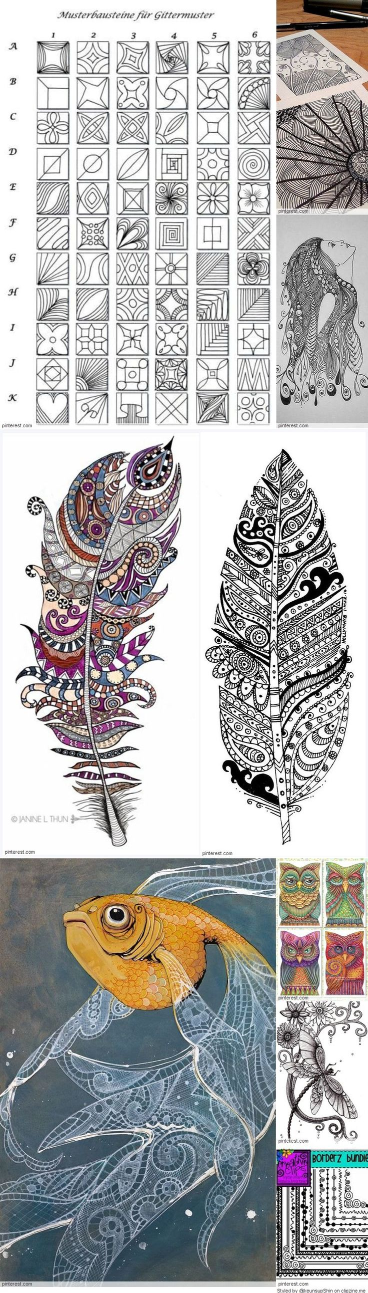 Zentangle Patterns                                                                                                                                                                                 More