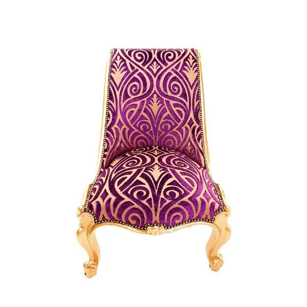 Purple And Gold | Antique Purple And Gold Slipper Chair Antique Purple And Gold Slipper ...