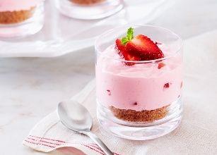 Verrines façon tartelette aux fraises