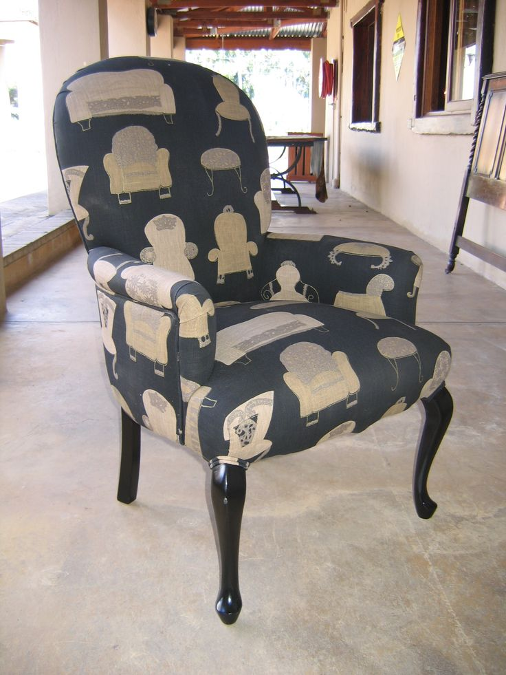 A reupholstered chair