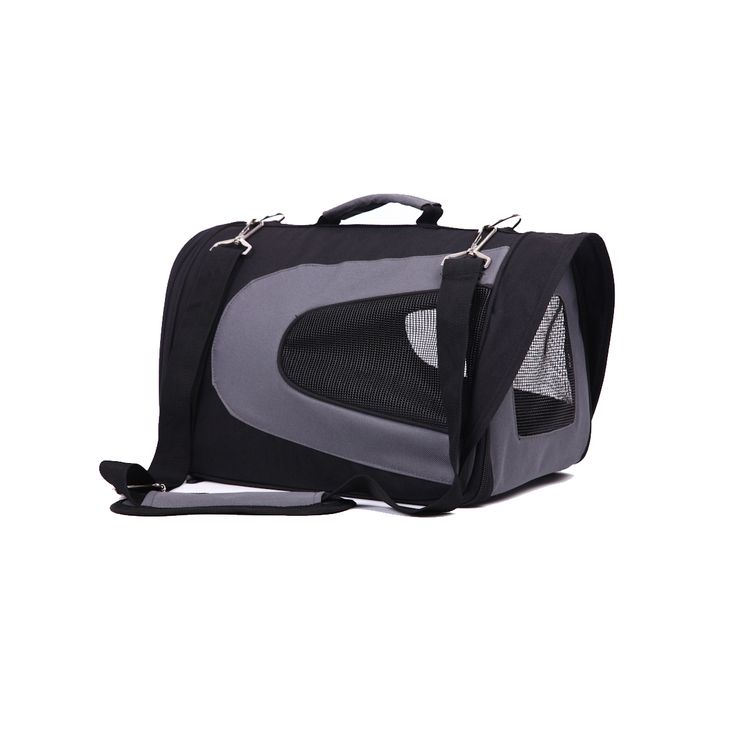 Iconic Pet - FurryGo Universal Collapsible Pet Airline Carrier - Black - Medium - 601393517061.  FurryGo Universal Collapsible Pet Airline Carrier is stylish and sturdy. It has fashionable appeal and the collapsible design permits easy storage when not in use. The ventilation and visibility from three sides provides comfort for your pet. Collapsible Pet Airline Carrier is ideal for carrying your pet anywhere. It is perfect for travel via plane, car, or simply to the vet.