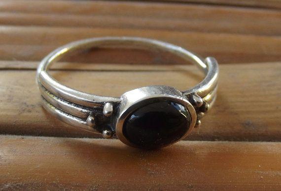 925 anello in argento sterling onix argento di silveringjewelry