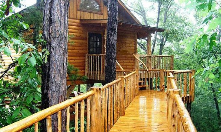 Treehouse Cottages Eureka Springs AR - Lofty Lookout Treehouse